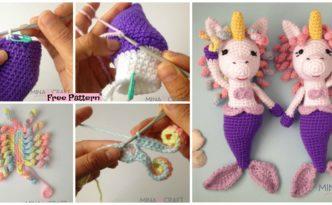 diy4ever- Crochet Unicorn Mermaid Amigurumi - Free Pattern