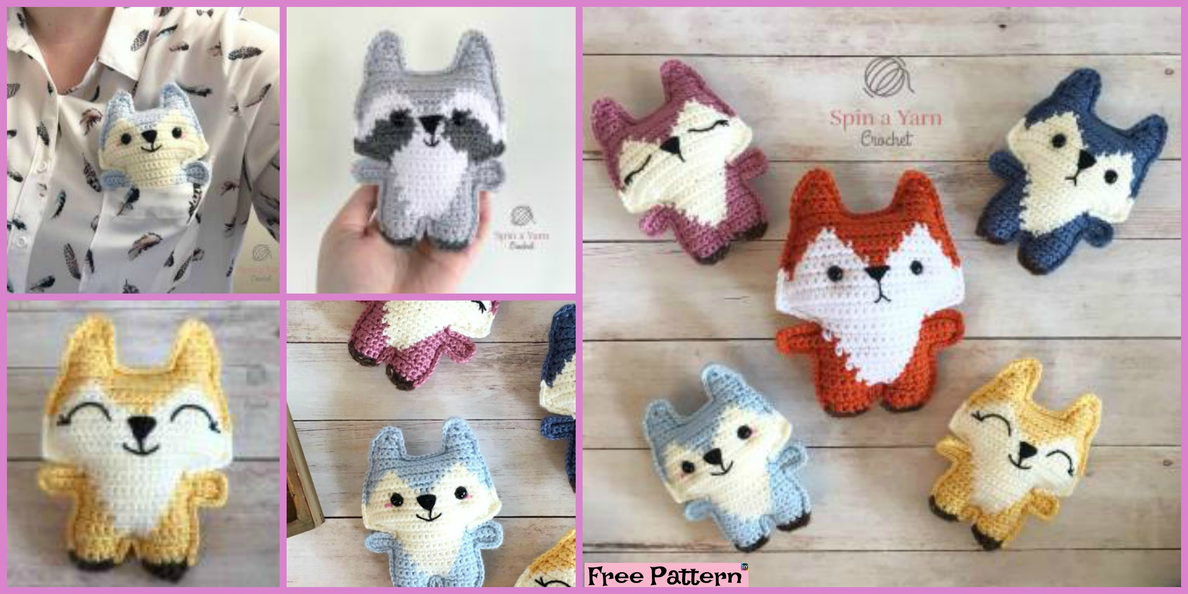 Cute Crochet Pocket Fox – Free Pattern