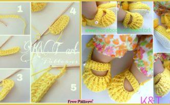 Cute Crochet baby Shoes - Free Pattern