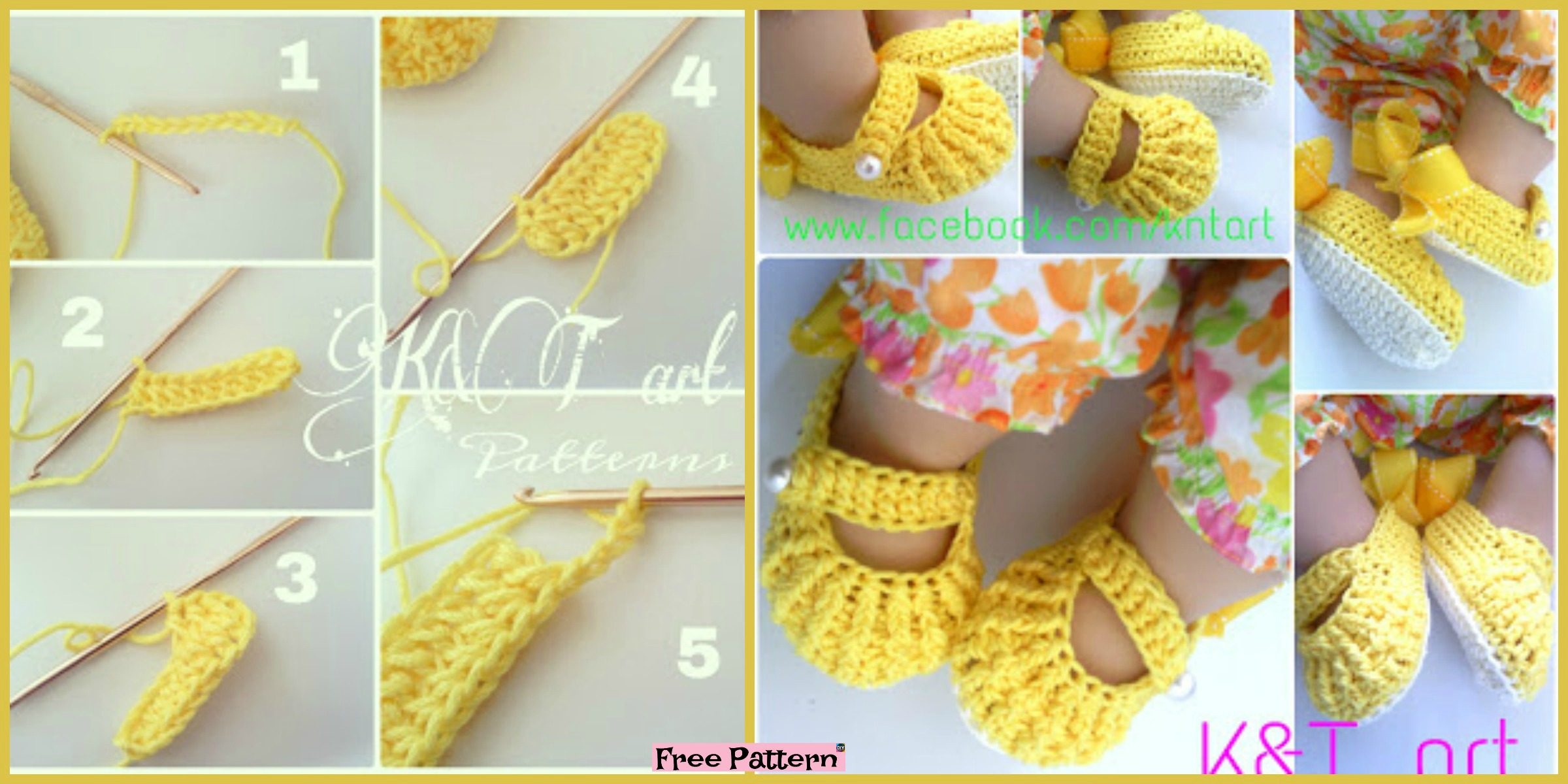 Cute Crochet baby Shoes – Free Pattern