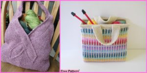 diy4ever-Knit Tote Bag - Free Patterns