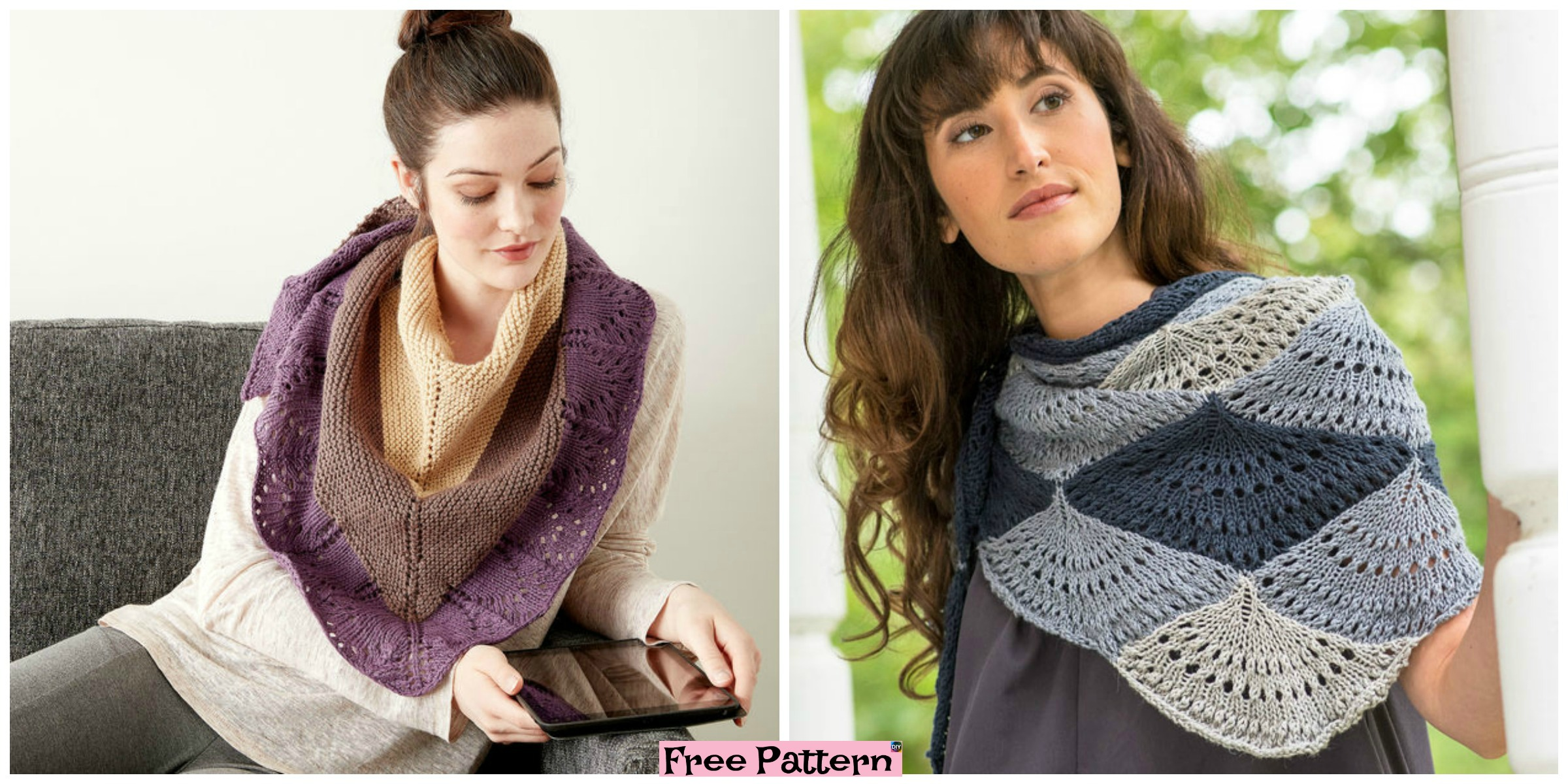 Beautiful Unique knitted Shawl – Free Patterns
