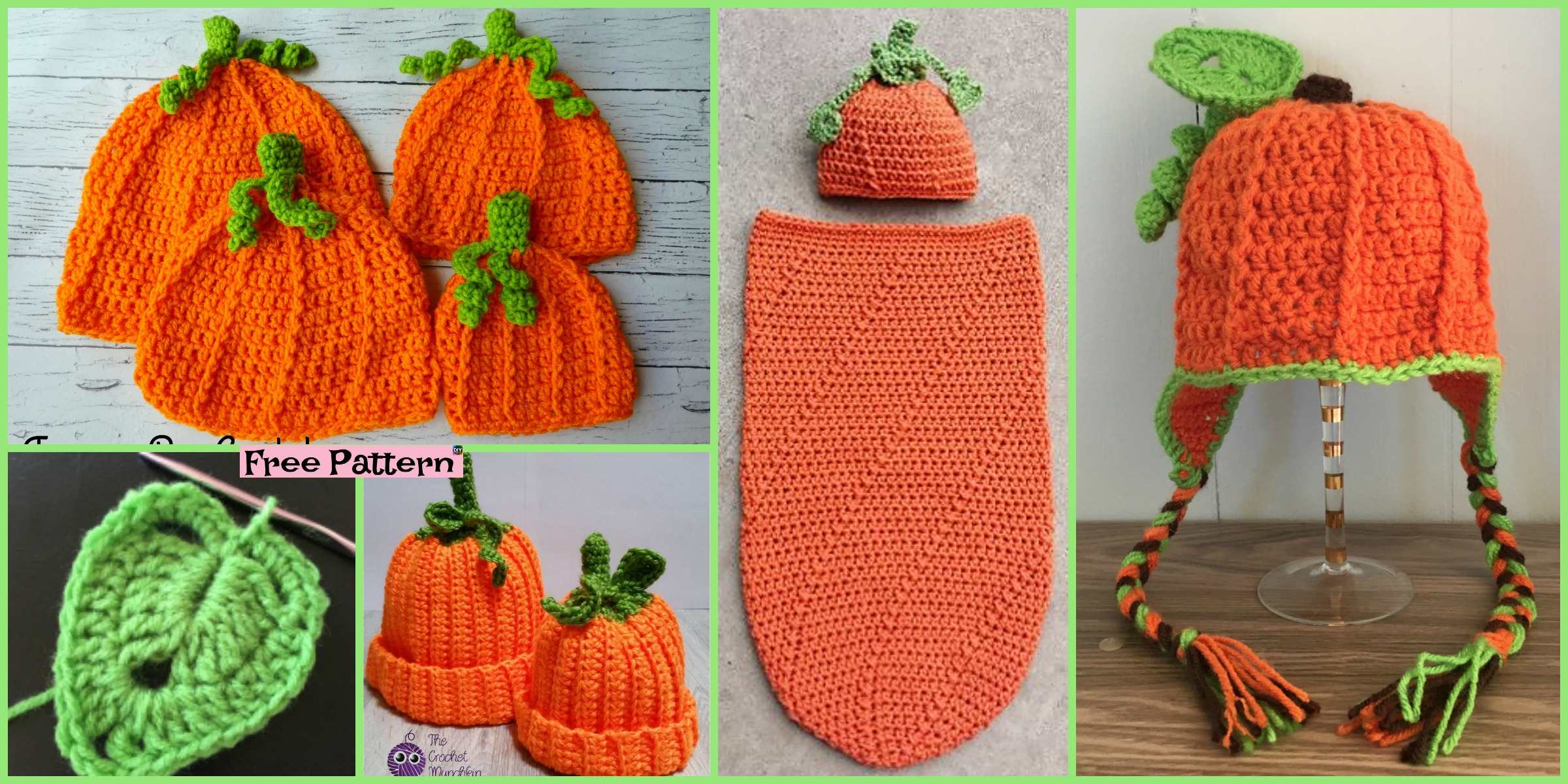 8 Cutest Crochet Pumpkin Hat Free Patterns