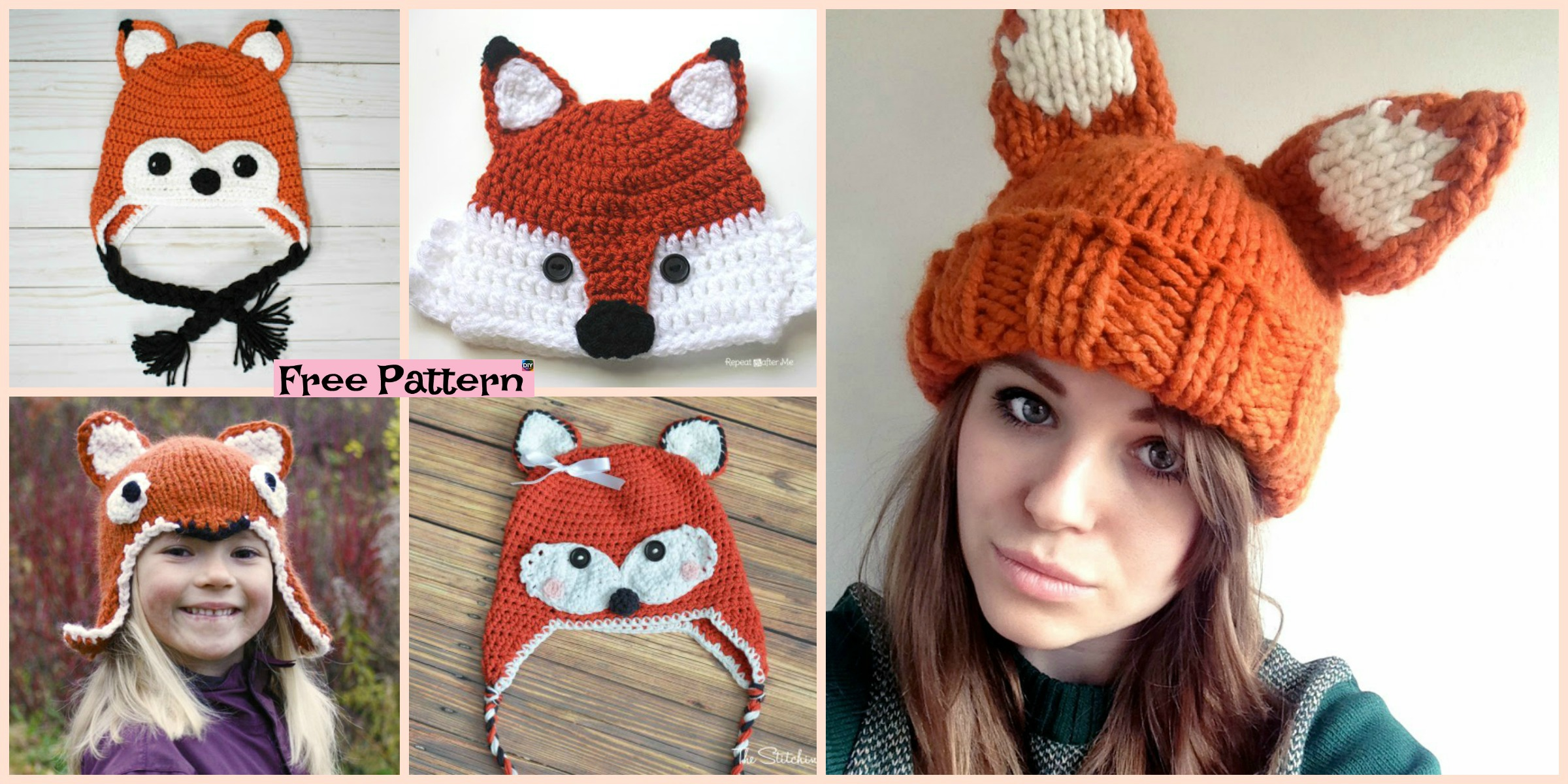 8 Knit & Crochet Fox Hats – Free Patterns