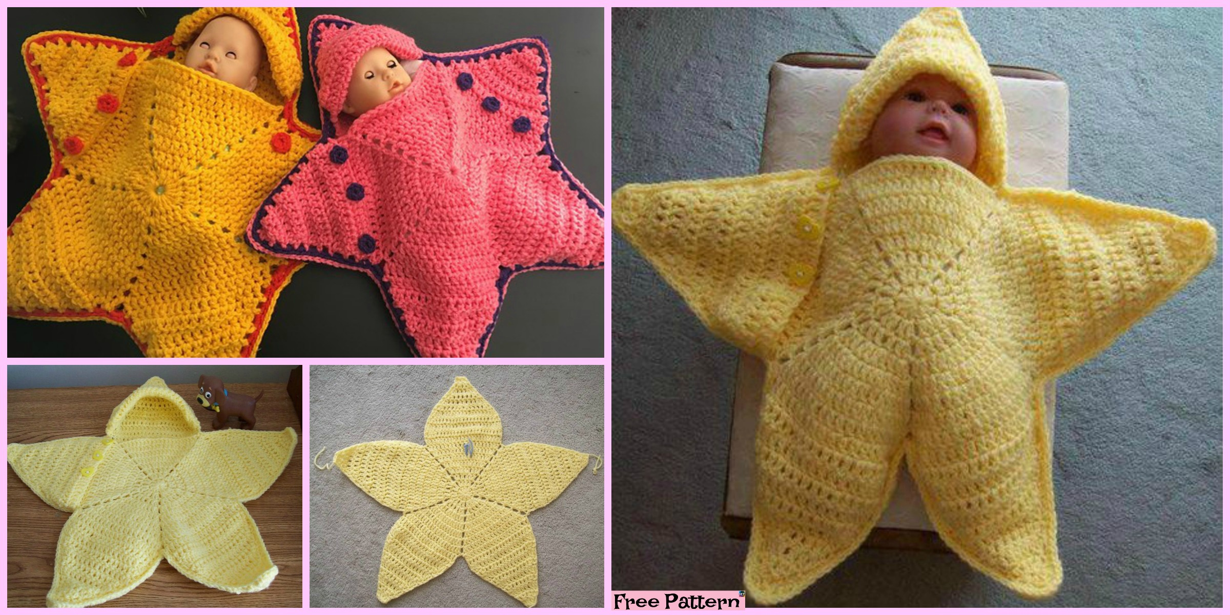 Cute Crochet Baby Star Bunting – Free Pattern