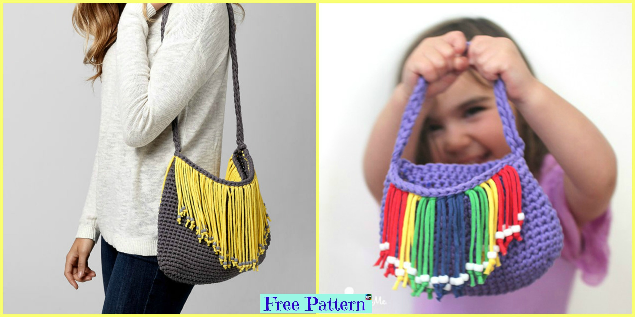 Crochet Bernat Fringe Benefits Bag – Free Pattern
