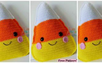 -Crochet Candy Corn Kawaii Cuddler - Free Pattern
