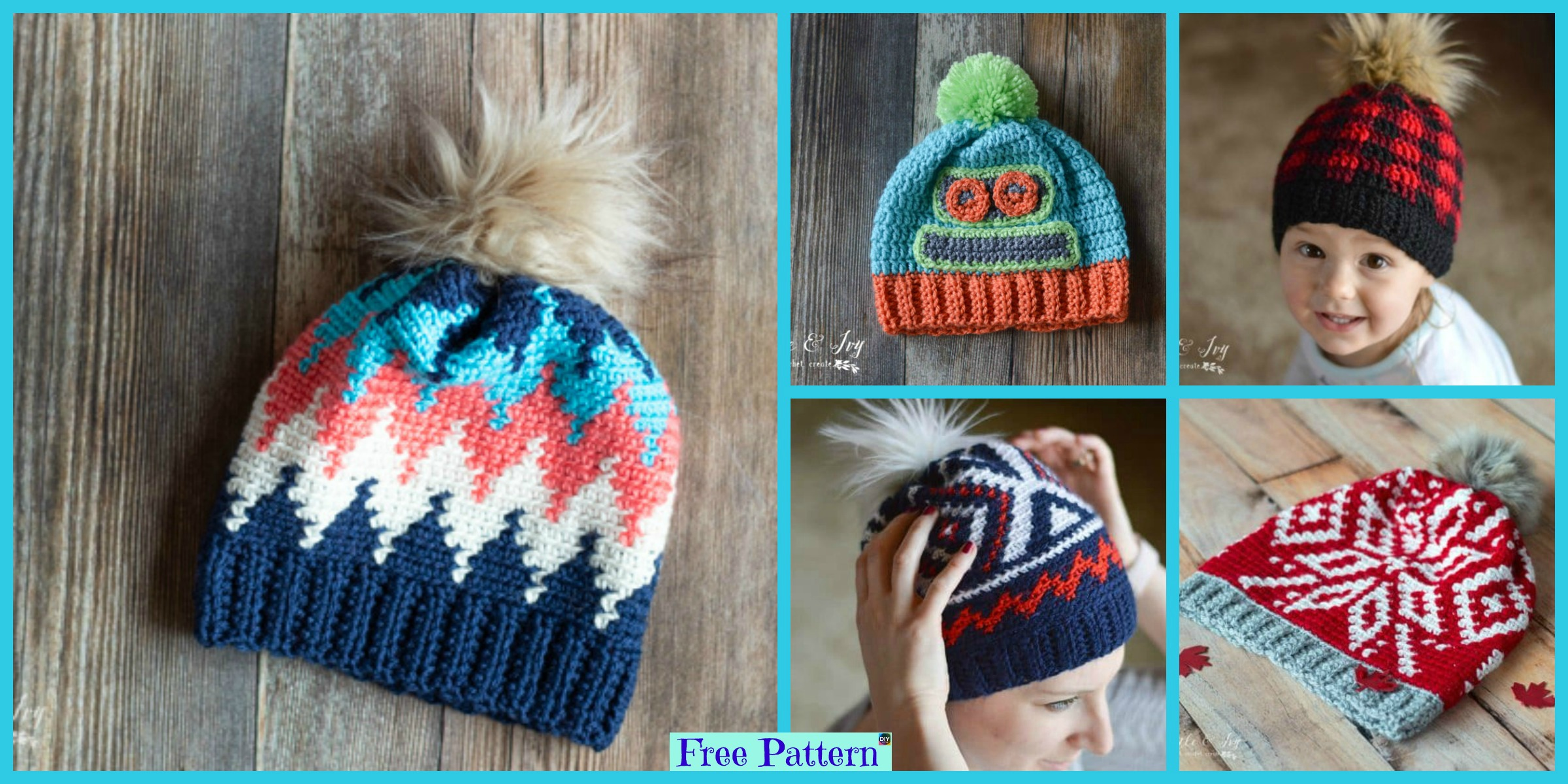Unique Crochet Chevron Hat – Free Patterns