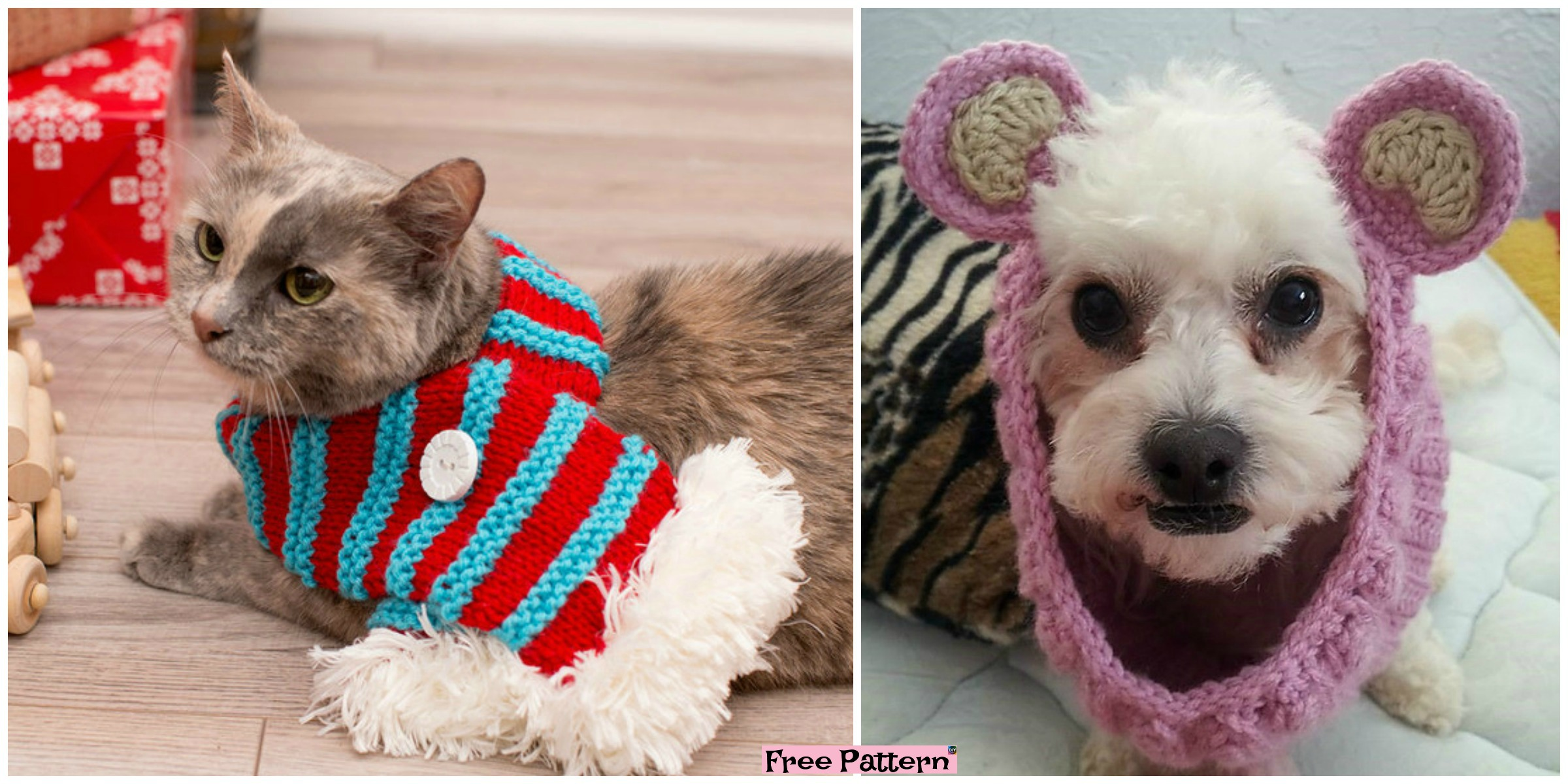 Crochet Dog Neck Warmer – Free Patterns