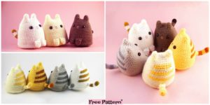 diy4ever- Crochet Dumpling Kitty - Free Pattern