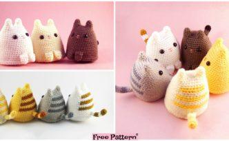 diy4ever- Crochet Dumpling Kitty - Free Pattern