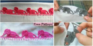 Crochet trimmings baby elephant - YouTube | 150x300