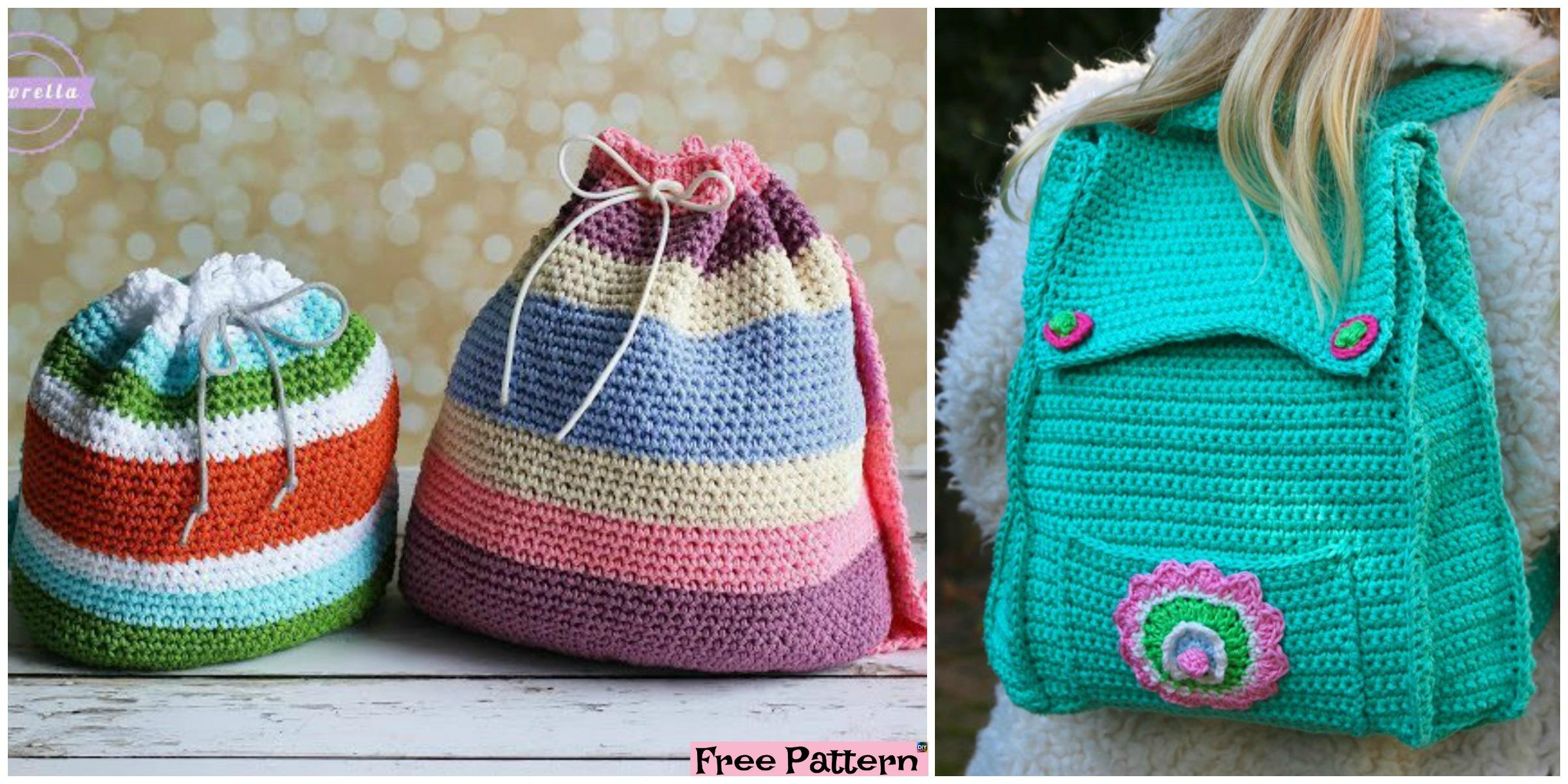 Crochet Kid Backpack – Free Pattern