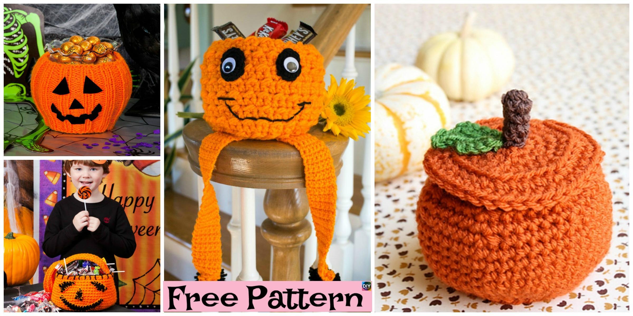 Crochet Pumpkin Treat Bowl – Free Patterns