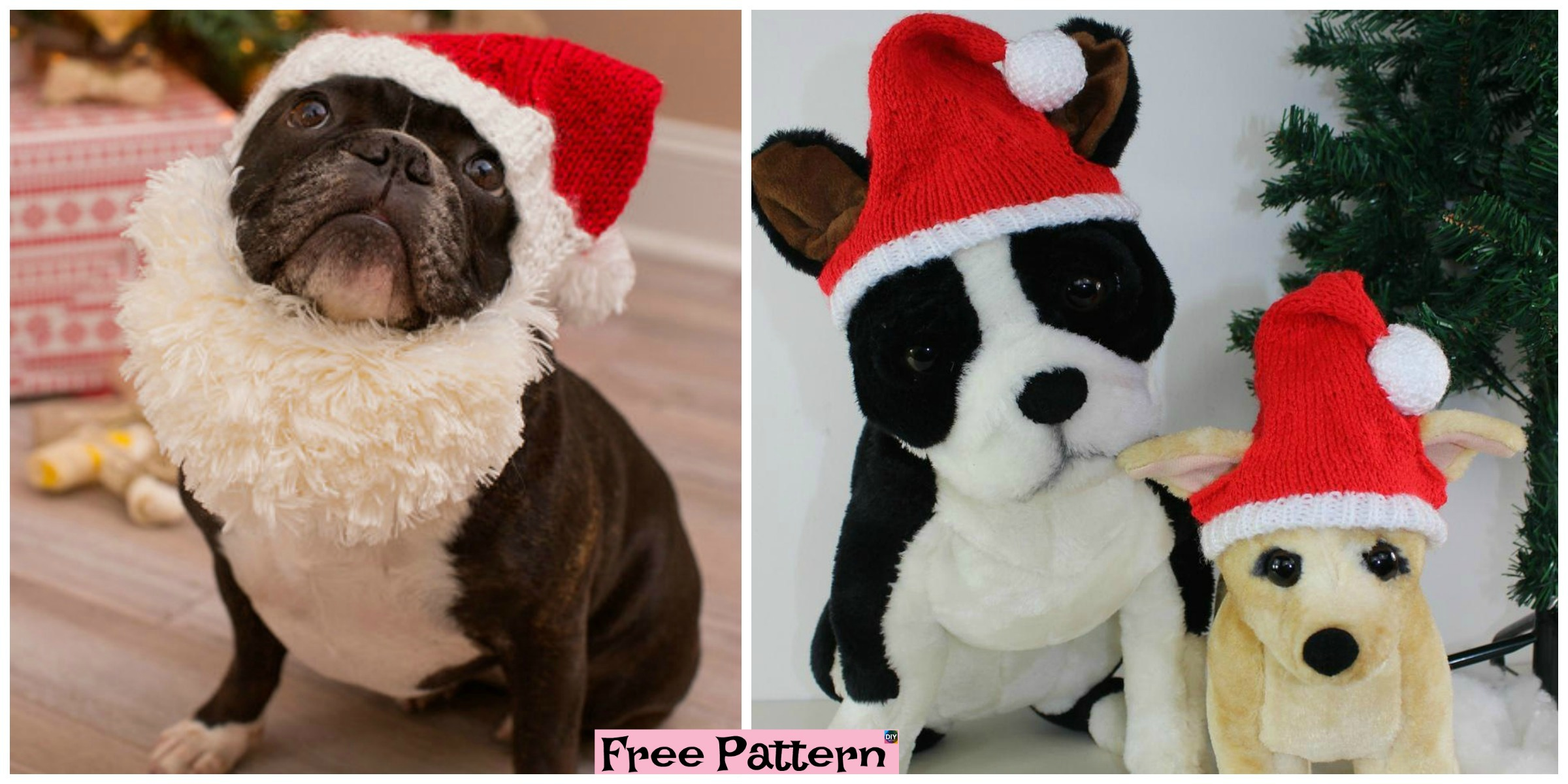 Knit Dog Santa Hat – Free patternt