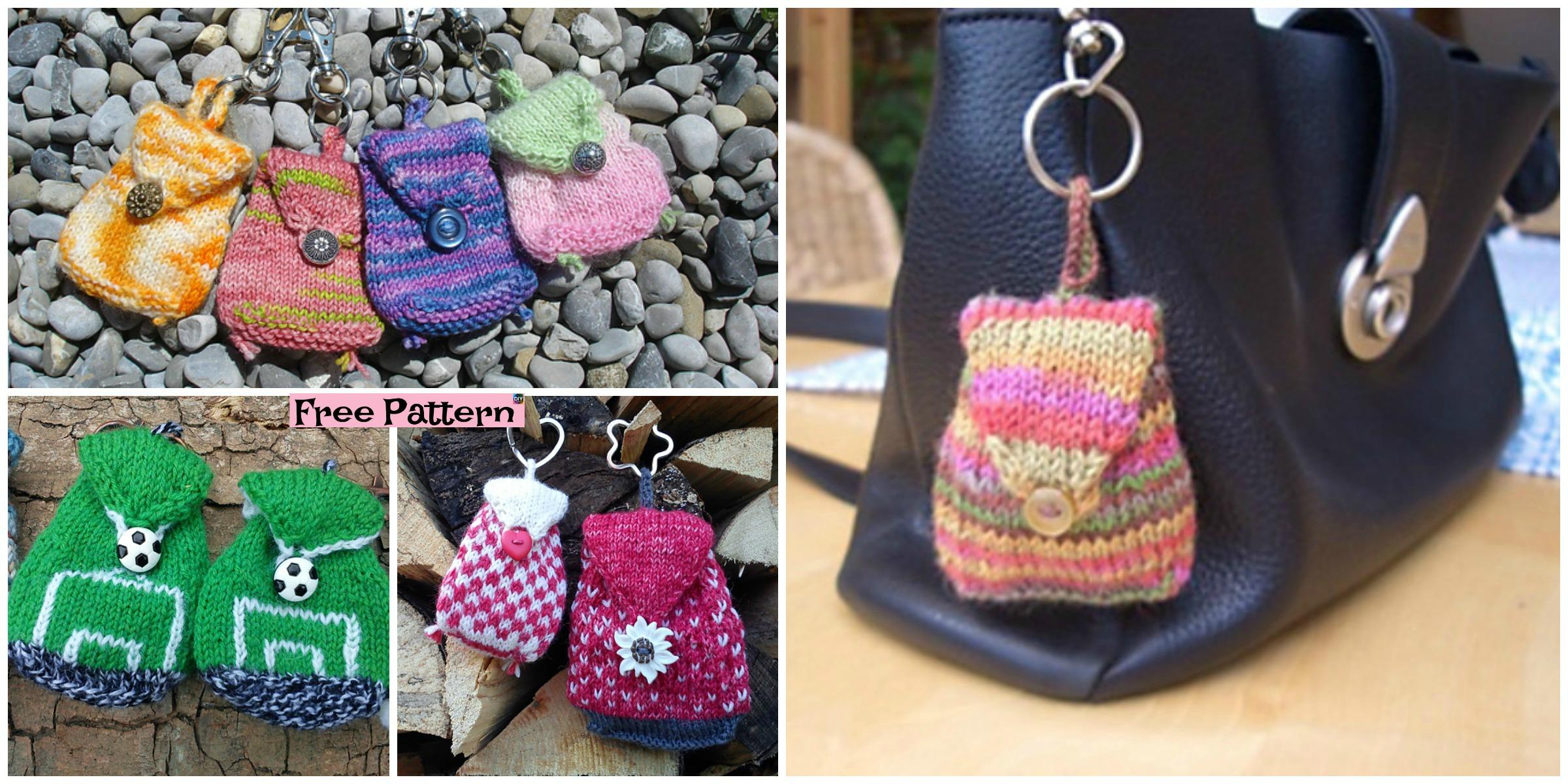 Adorable Knit Mini Bag – Free Pattern
