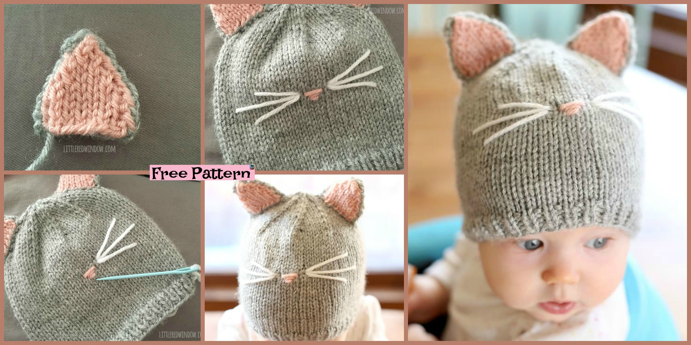 Pretty Knitting Kitty Cat Hat – Free Pattern