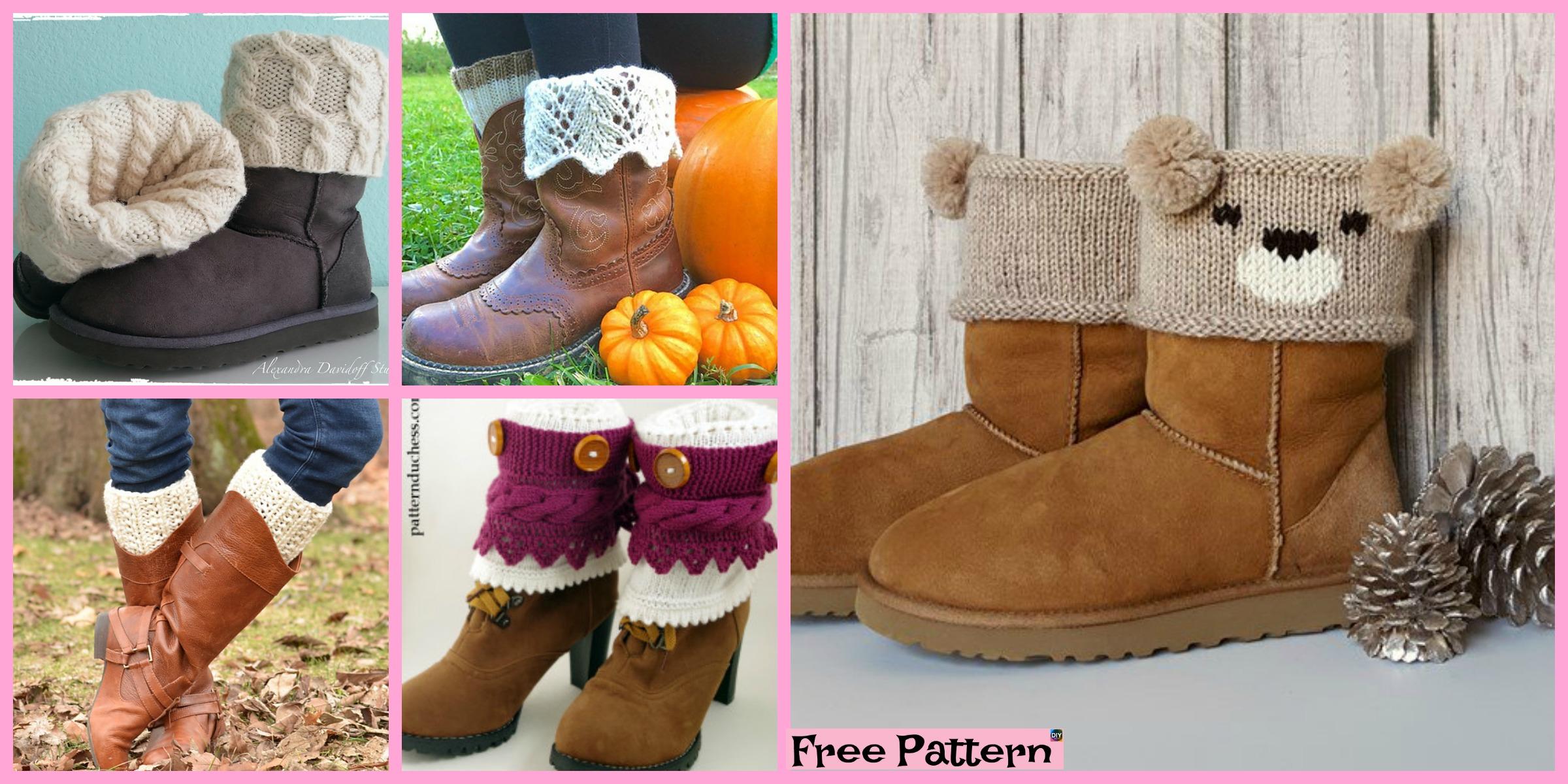 10 Cozy Knitting Boot Cuffs – Free Patterns