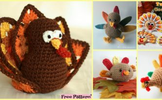 diy4ever- 10+ Crochet Amigurumi Turkeys - Free Patterns