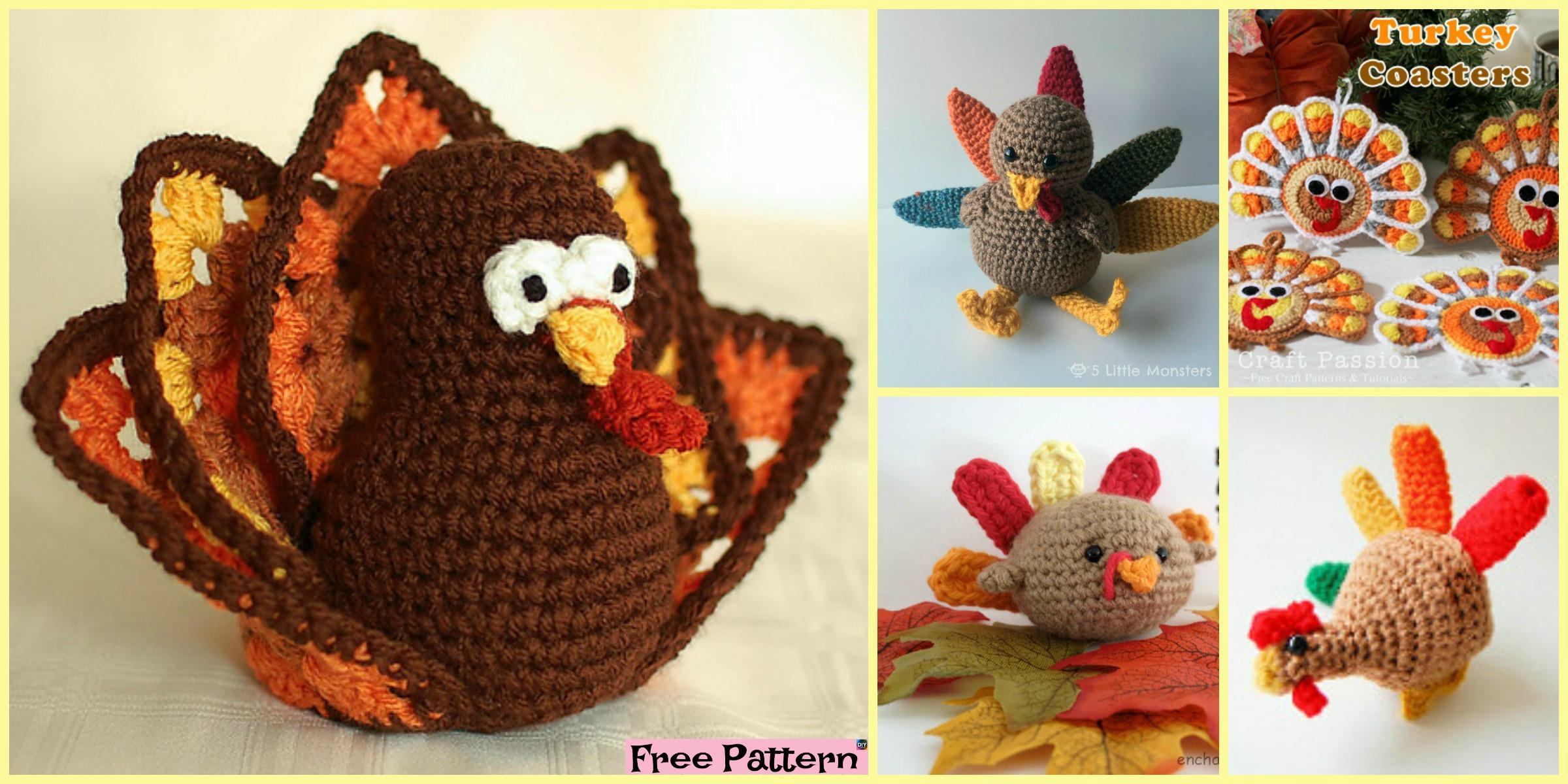 10+ Crochet Amigurumi Turkeys – Free Patterns