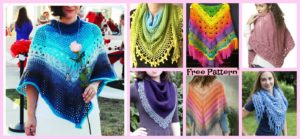 diy4ever-10+ Pretty Crocheted Shawls - Free Patterns