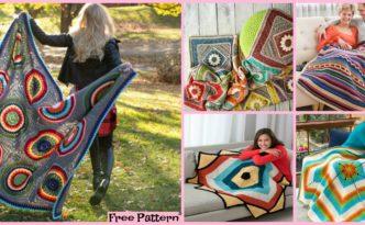 diy4ever-10 Unique Crochet Throw Free Patterns