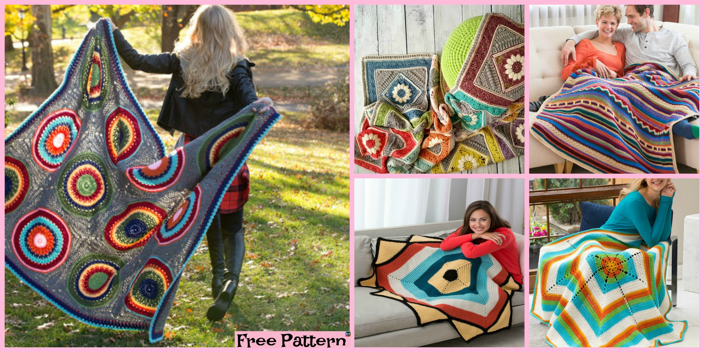 10 Unique Crochet Throw Free Patterns