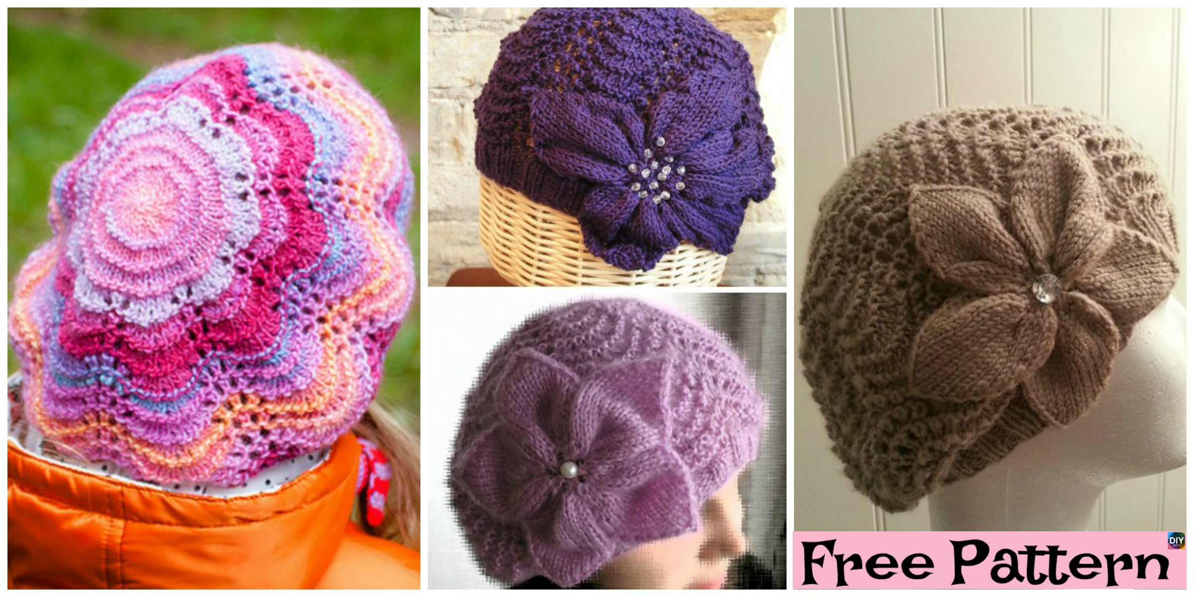 Cozy Knit Flower Beret – Free Pattern
