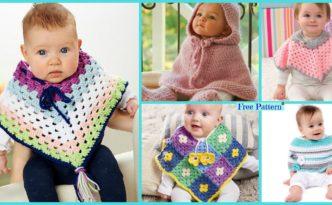 diy4ever-Crochet Baby Poncho - Free Pattern