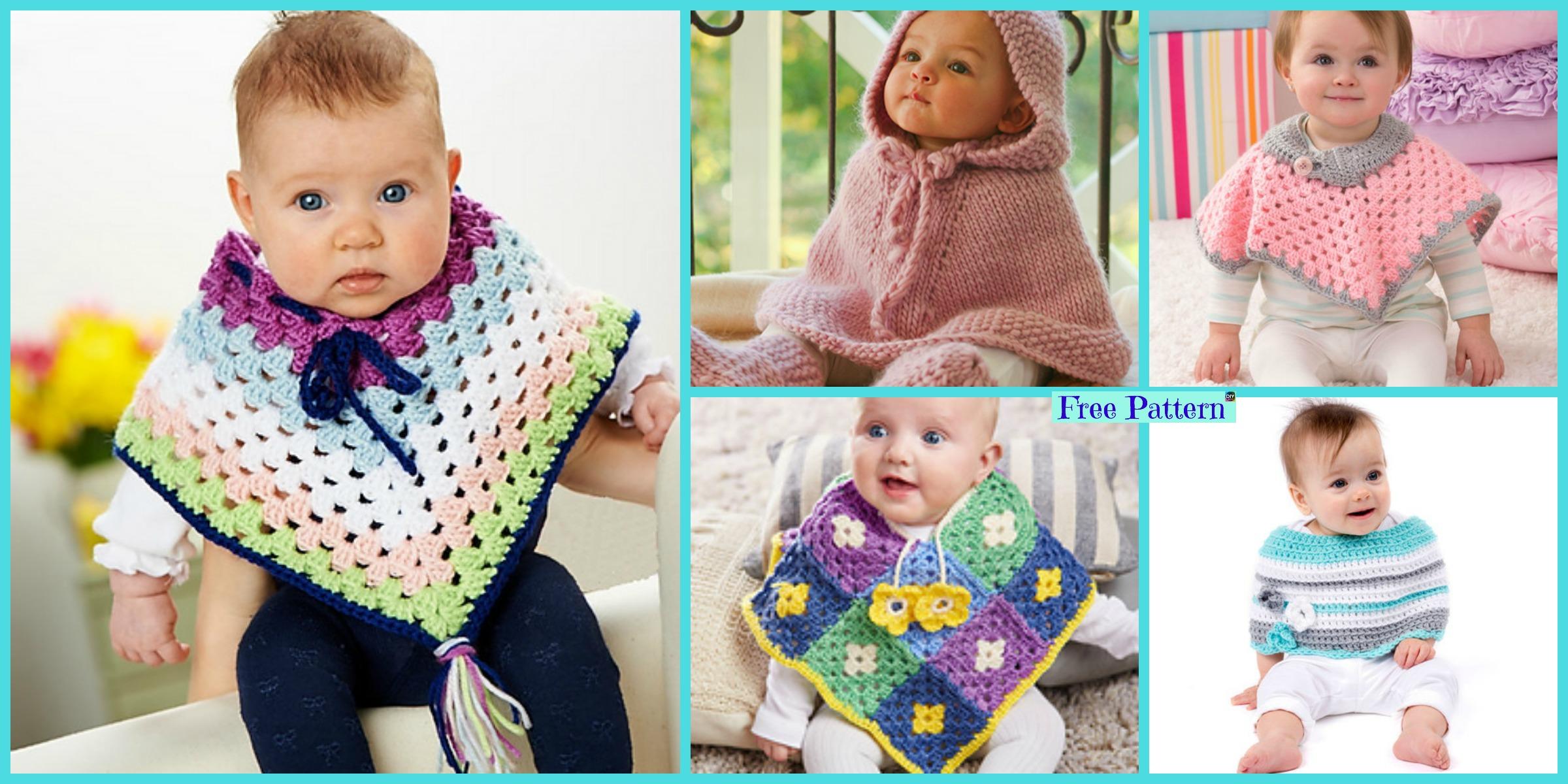 Crochet Baby Poncho – Free Patterns