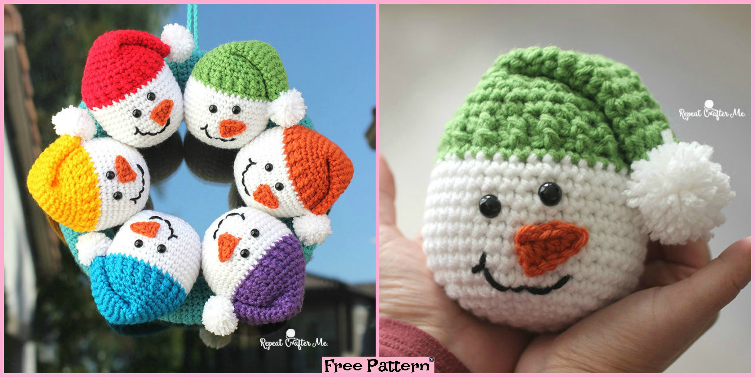 Crochet Cute Snowman – Free Pattern