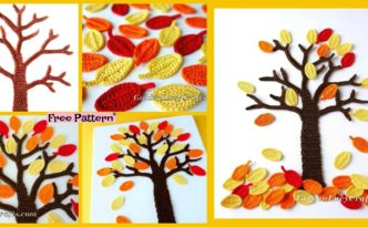 diy4ever-Crochet Fall Tree Wall Art – Free Pattern