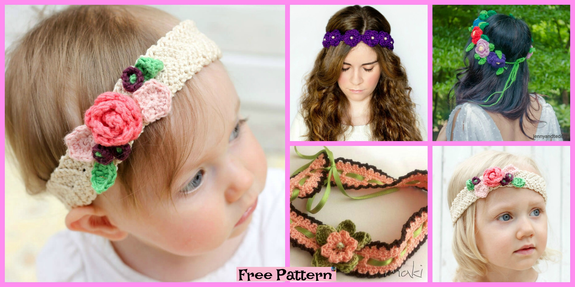 Crochet Flower Headband – Free Patterns