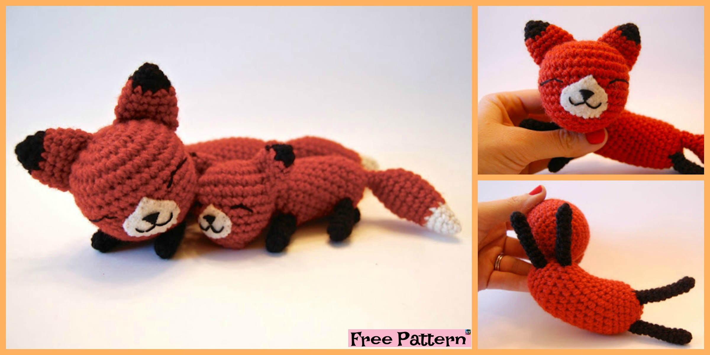 Crochet Mama Baby Foxes  – Free Pattern