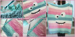 diy4ever-Crochet Monster Blanket - Free Pattern