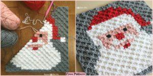 diy4ever-Crochet Santa Pixel Square - Free Pattern
