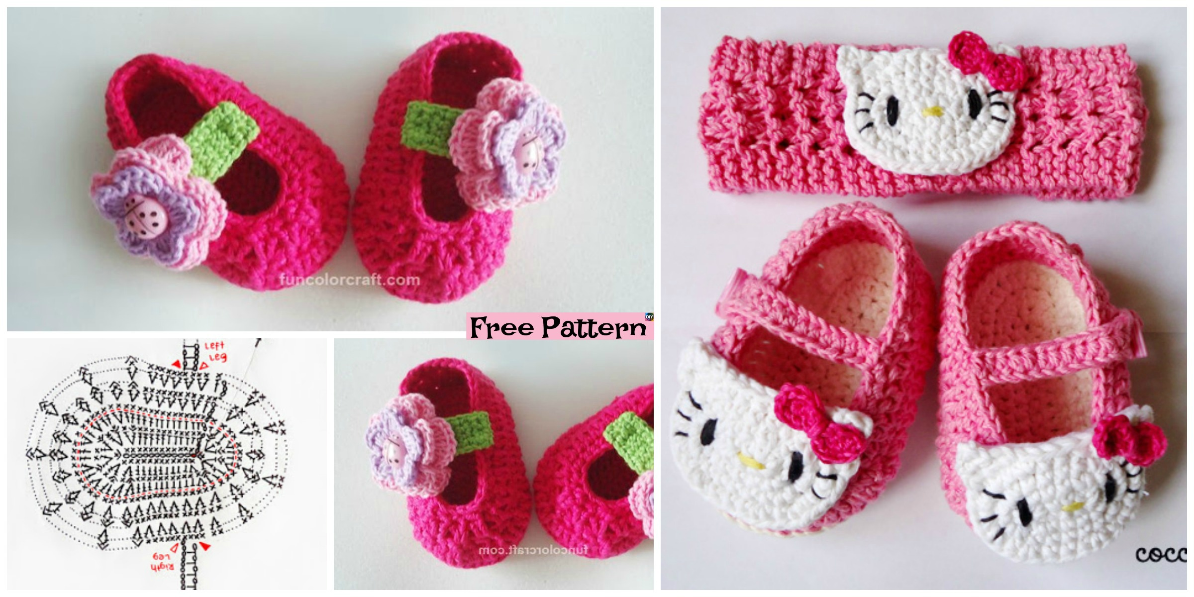 Cute Crocheted Baby Shoes – Free Patterns
