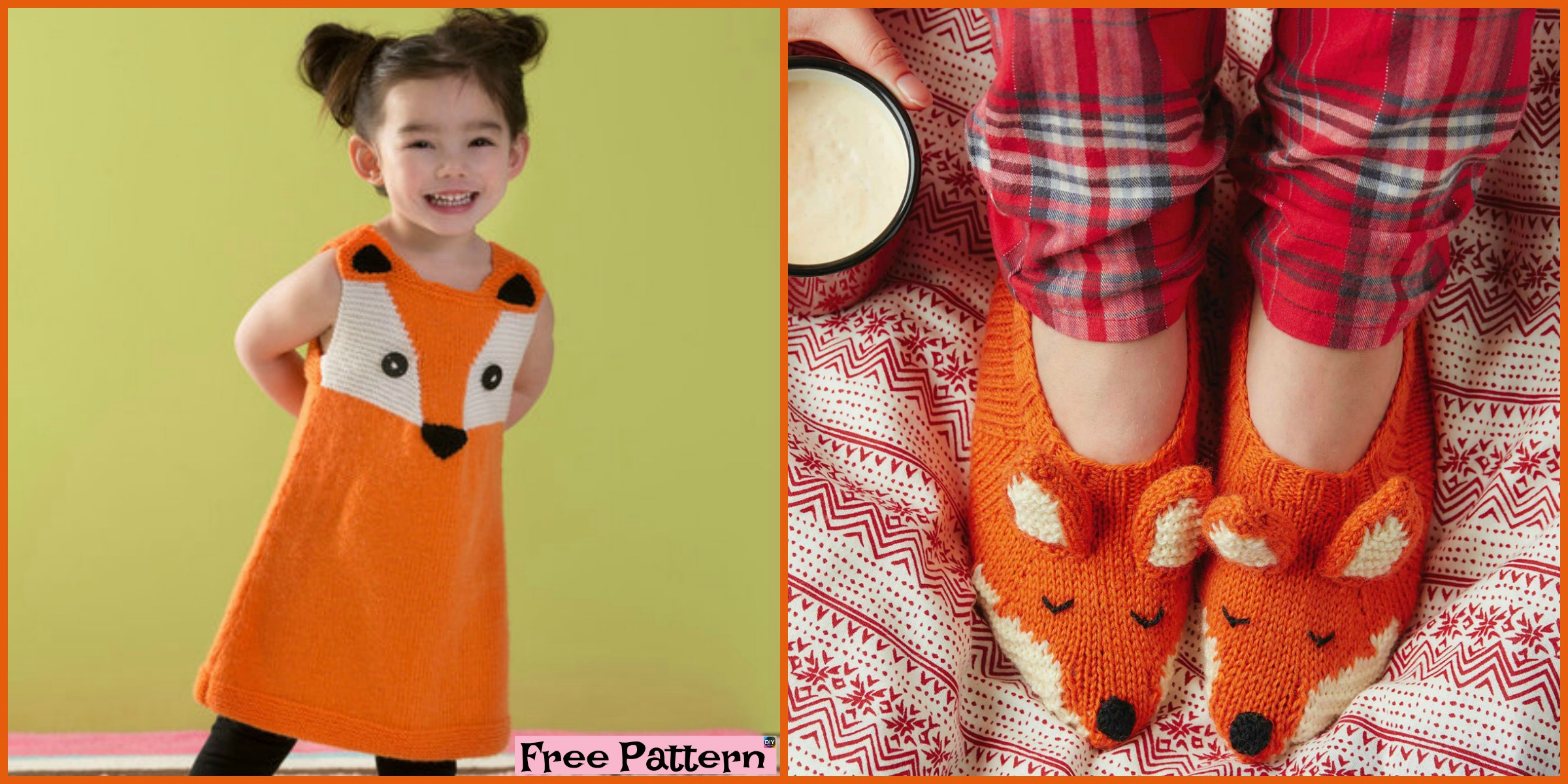 Adorable Knit Fox Tunic & Slippers – Free Patterns