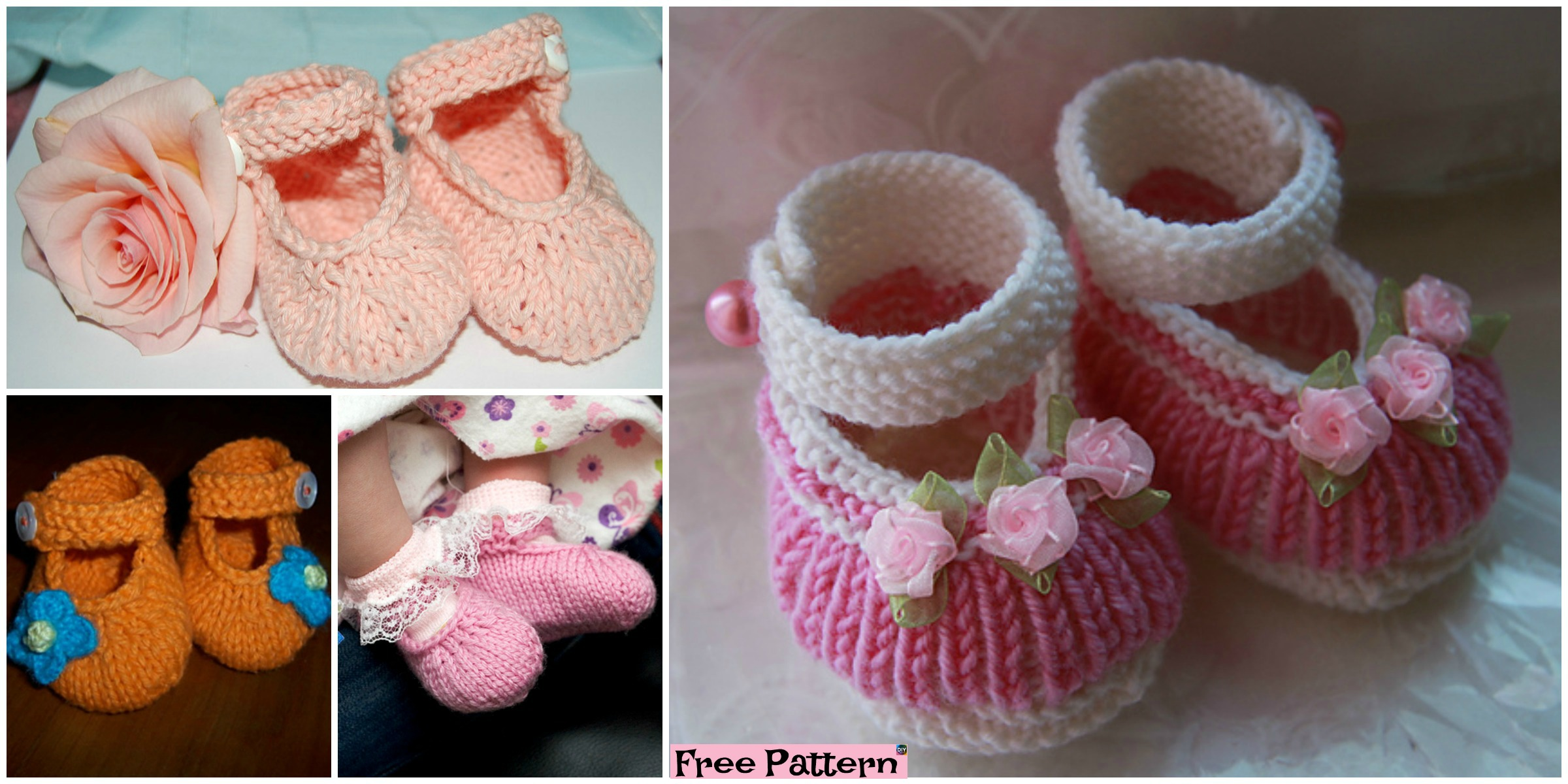 knit Adorable Baby Booties – Free Pattern