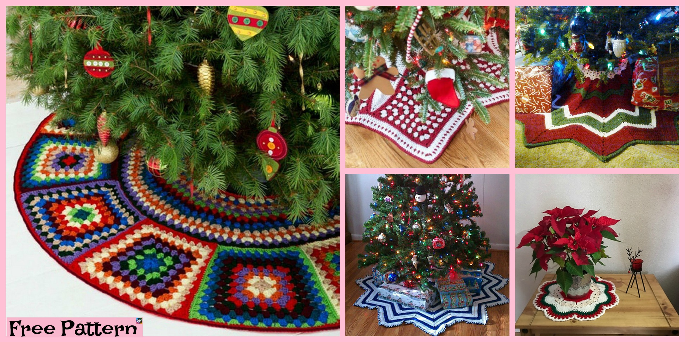 10 Crochet Christmas Tree Skirts – Free Patterns