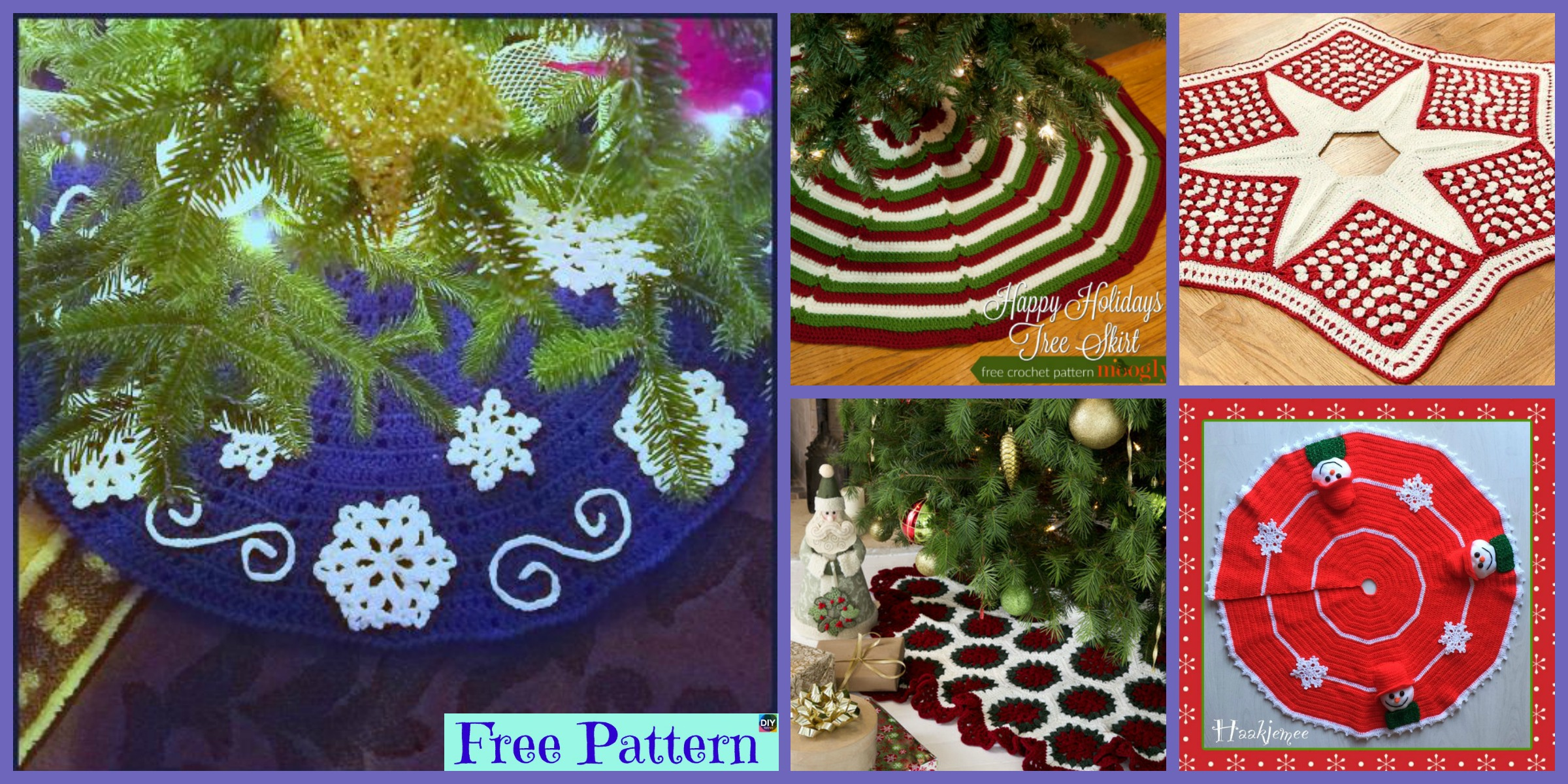 10 Crocheted Christmas Tree Skirt – Free Patterns
