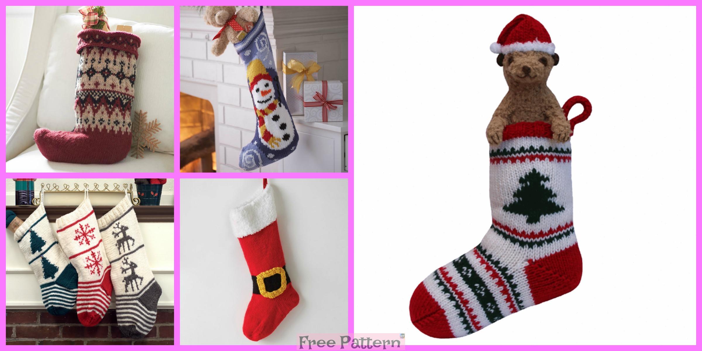 6 Knit Christmas Stocking – Free Patterns