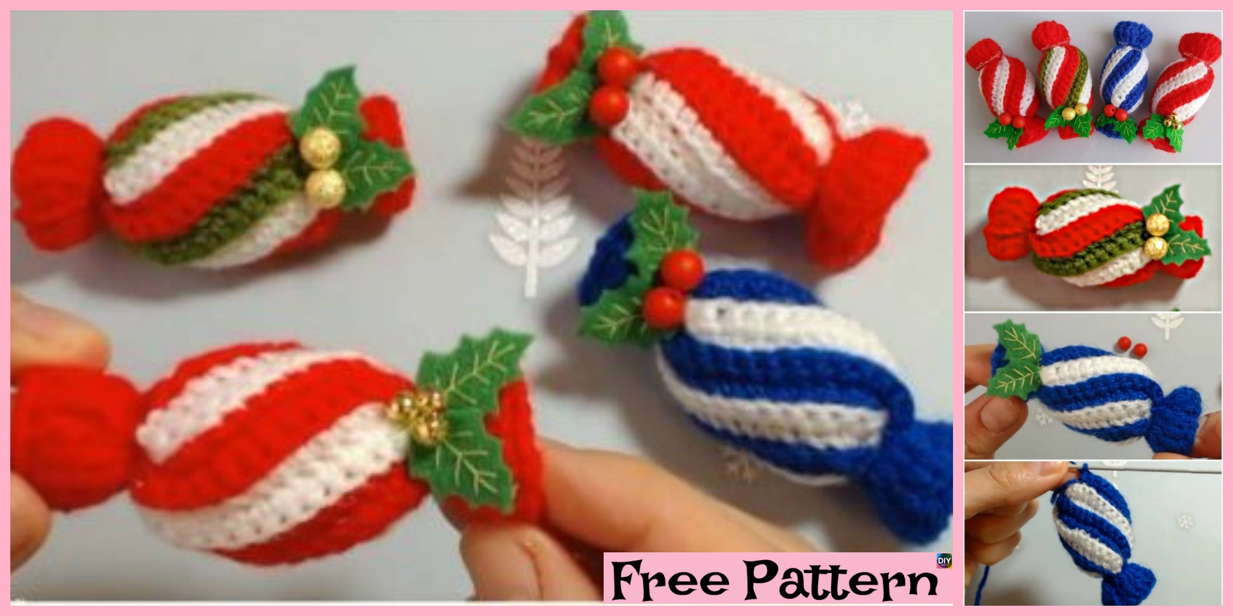 Crochet Christmas Candies – Free Pattern