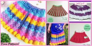 diy4ever-Crochet Pretty Skirt for Girl - Free Pattern