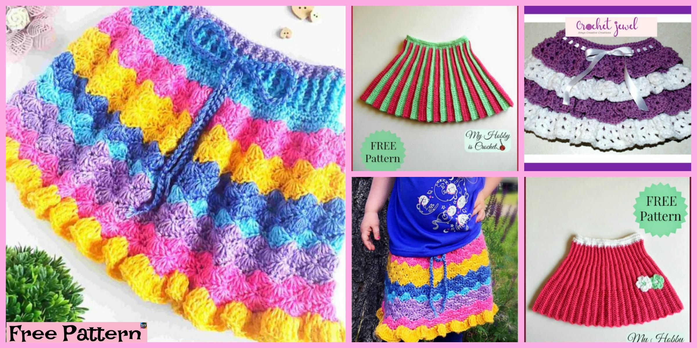 Crochet Pretty Skirt for Girl – Free Pattern