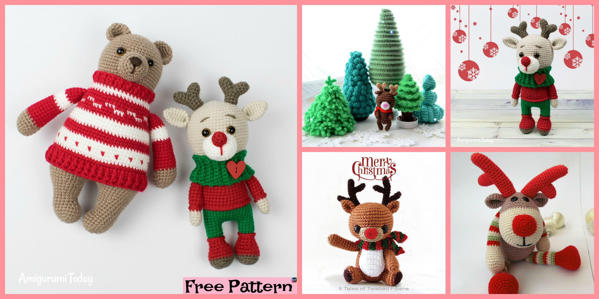 Cute Crochet Holiday Deer – Free Patterns