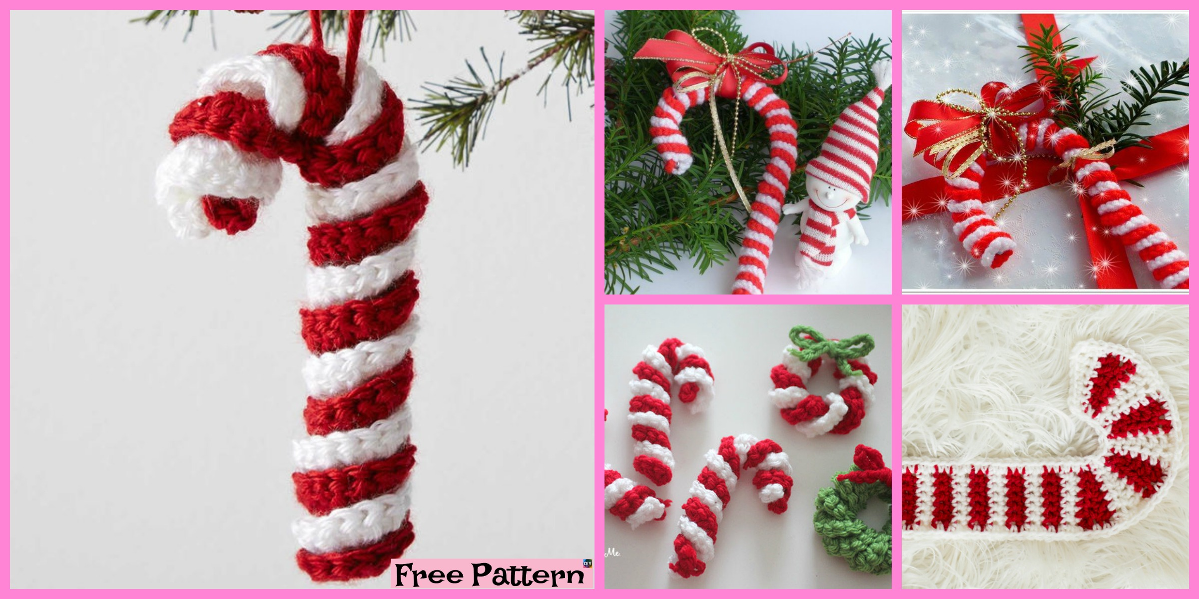 Easy Crochet Candy Canes – Free Pattern