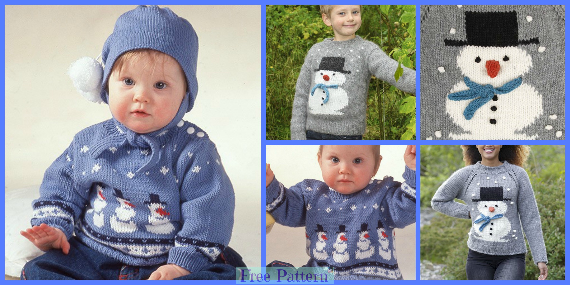 Knit Adorable Snowman Sweater – Free Patterns