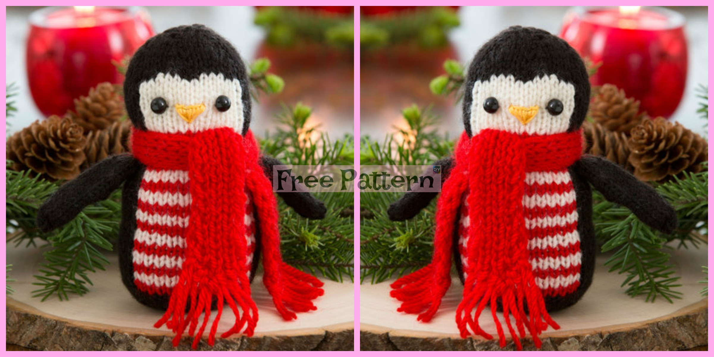 Knit Cheerful Holiday Penguin – Free Pattern