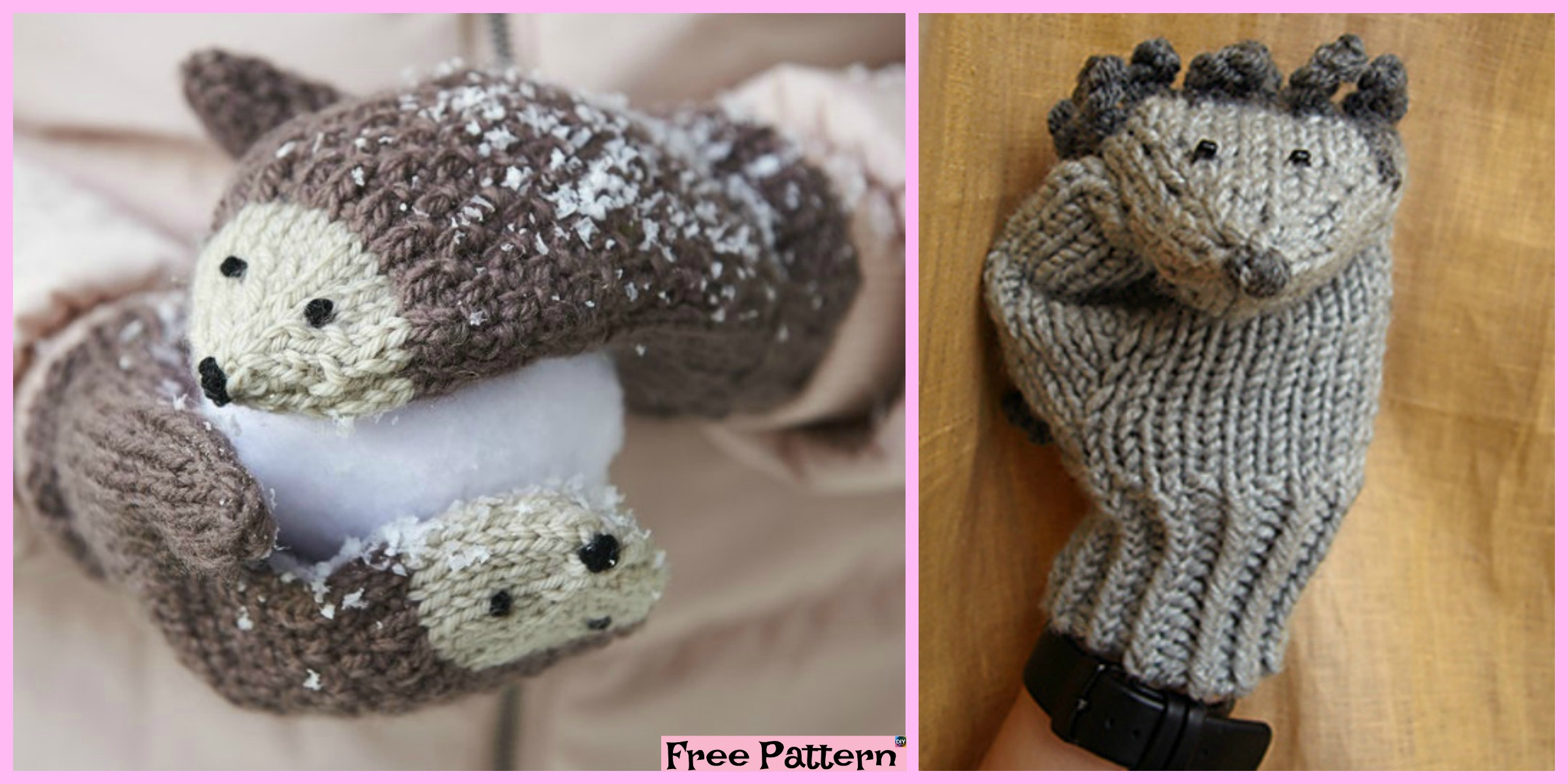 Knit Hedgehog Mittens – Free Pattern